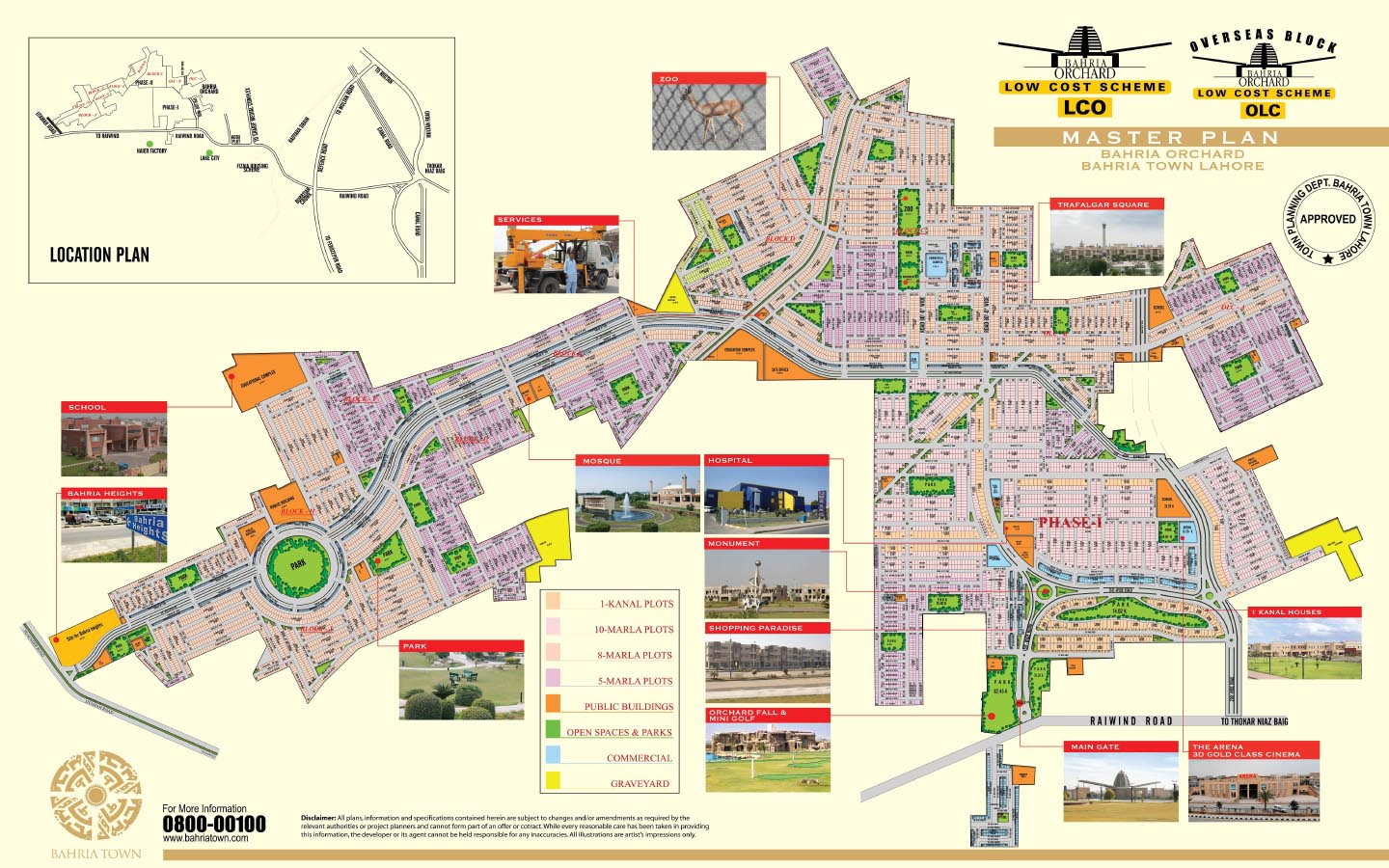Master Plan of Bahria Orchard, Lahore