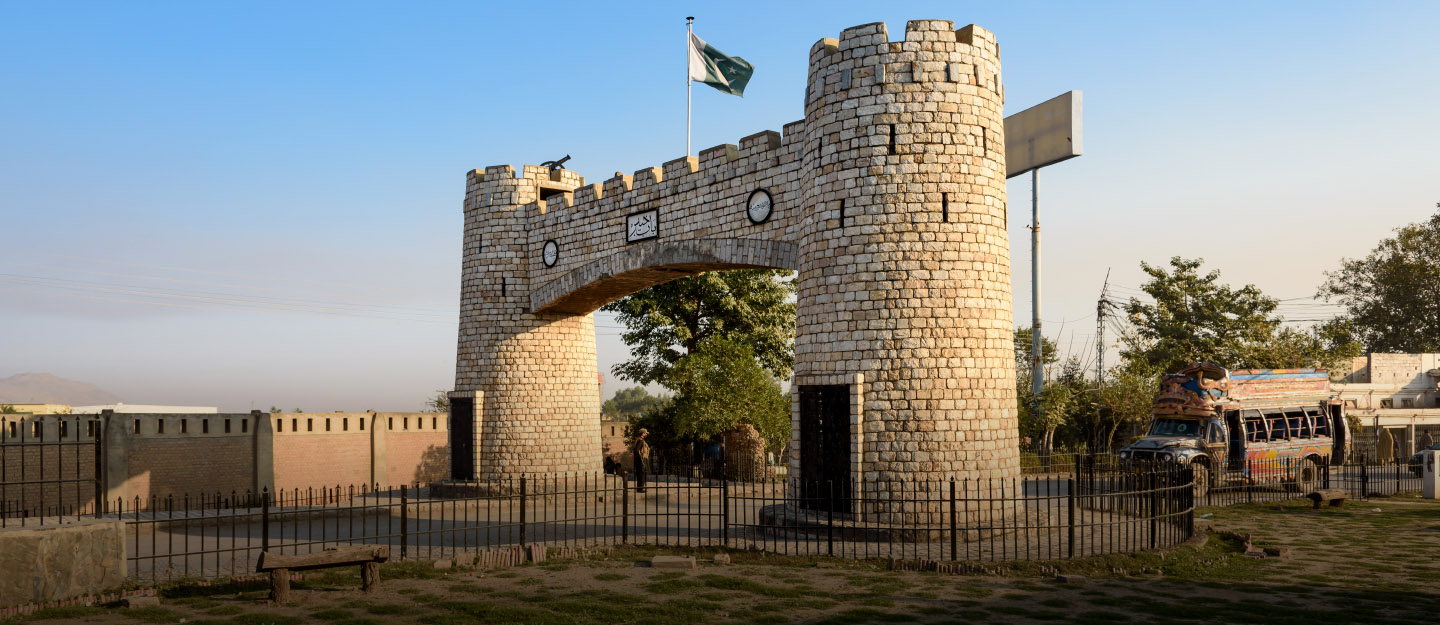 bab-e-khyber near Peshawar at the end of Khyber Bypass