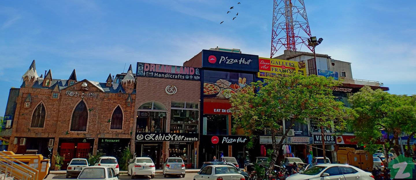 F-6 Markaz, a central commercial area, joins all the four sub sectors of F-6 Islamabad.