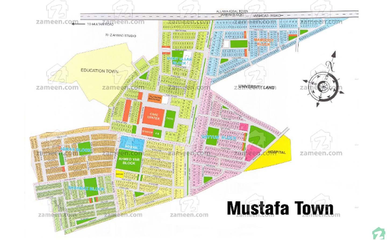 Society Map, Mustafa Town, Lahore
